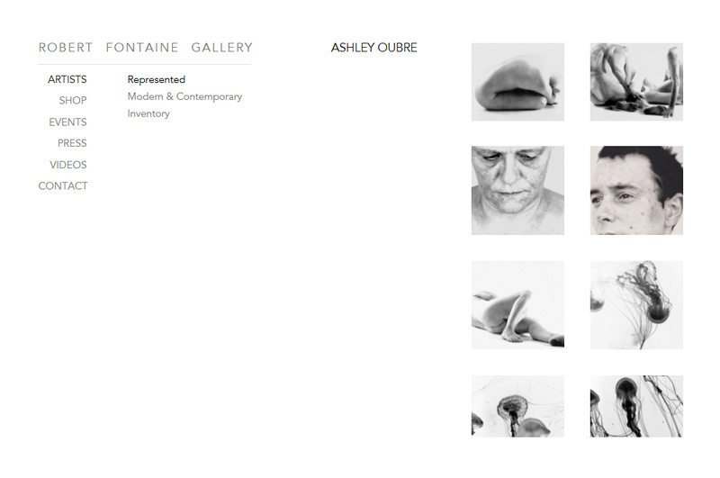 Screenshot of Robert Fontaine Gallery website